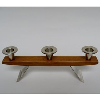 Vintage Wood & Silverplate Candleholder Preview