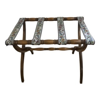 1960s Mid Century Maple Luggage Rack For Sale
