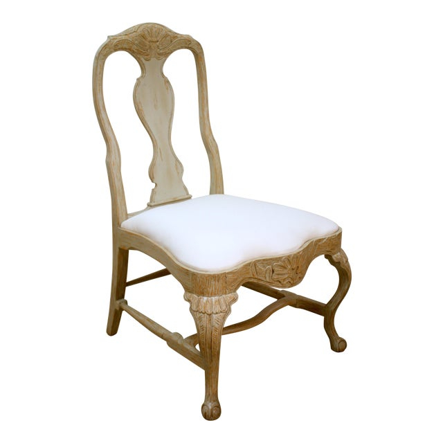 Swedish Rococo Dining Side Chair For Sale