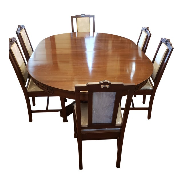 Antique John D. Raab Chair Co. Dining Room Set - Set of 7 For Sale