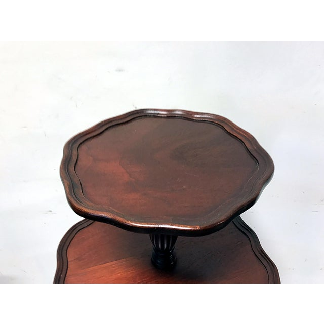 Vintage Mersman 3-Tier Mahogany Table - Image 9 of 10