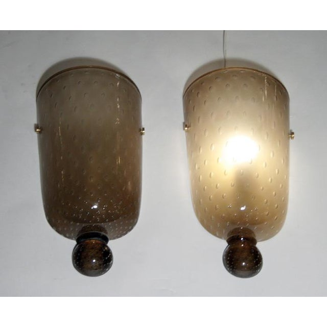 """1980s Seguso """"Bulicante"""" Glass Sconces - A Pair For Sale - Image 5 of 7"""