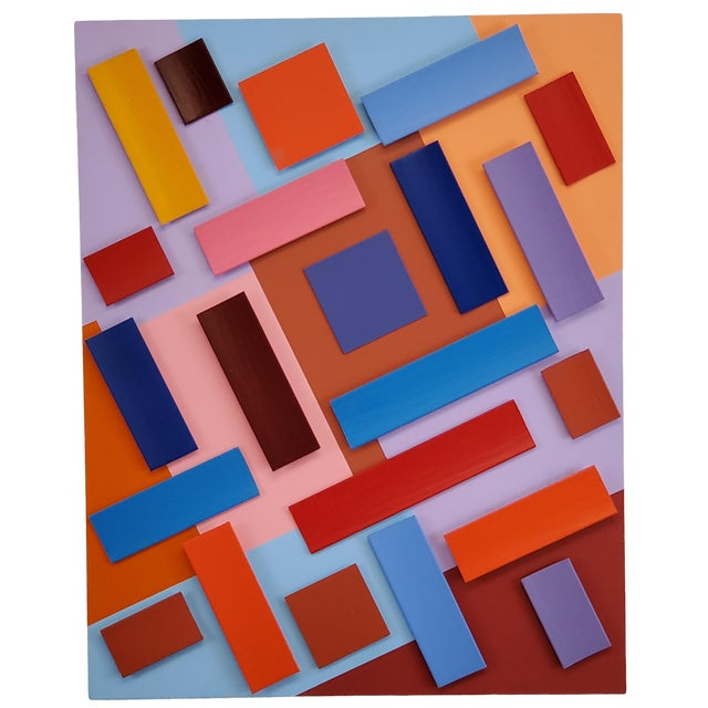 Abstract Sassoon Kosian in Search of Happiness Wall Sculpture For Sale