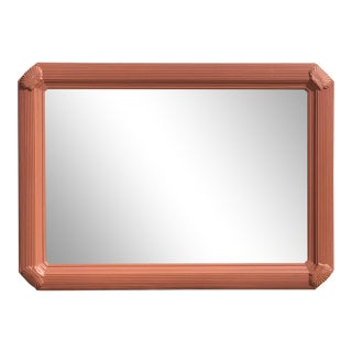 1980s Vintage Pink Clamshell Mirror For Sale