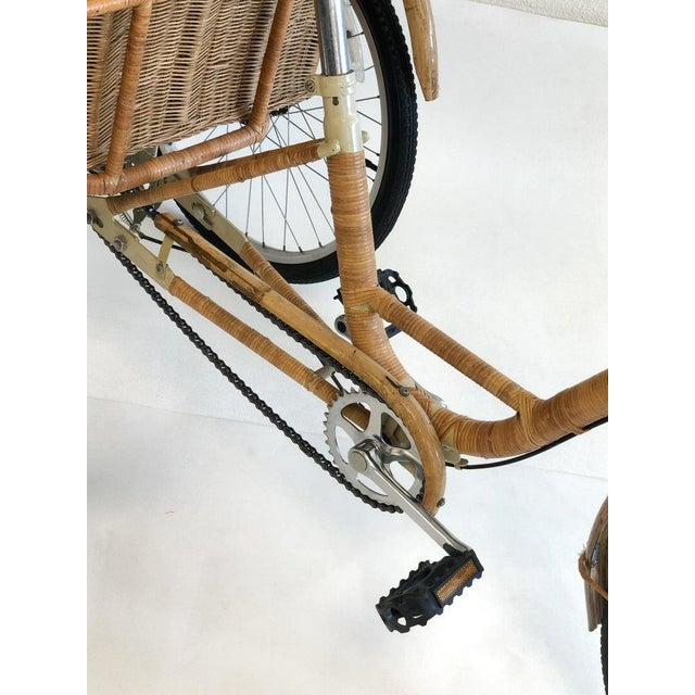 Wicker and Bamboo Tricycle For Sale In Palm Springs - Image 6 of 12