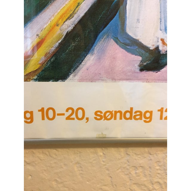 1980s Edvard Munch the Girls on the Bridge Museet Exhibition Poster Print For Sale In New York - Image 6 of 7