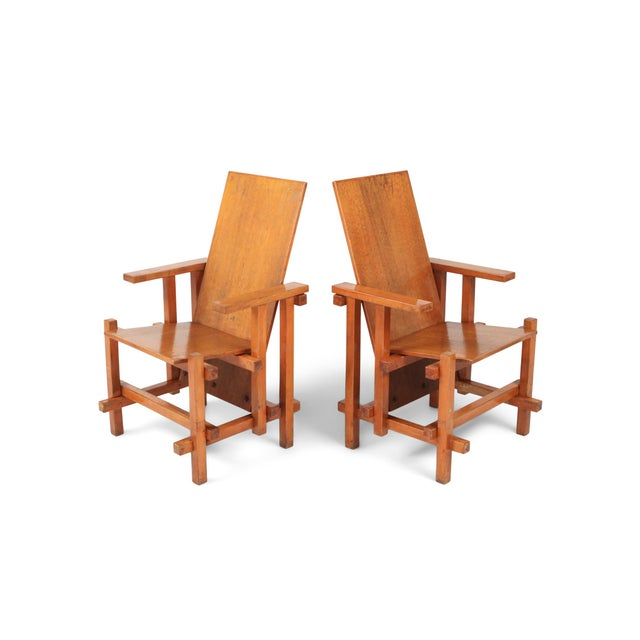 Modernist Armchairs Attributed to Gerrit Rietveld For Sale - Image 10 of 10