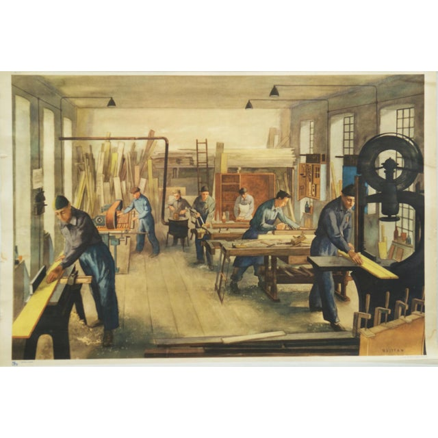 Joinery School Poster, 1960s For Sale - Image 6 of 6