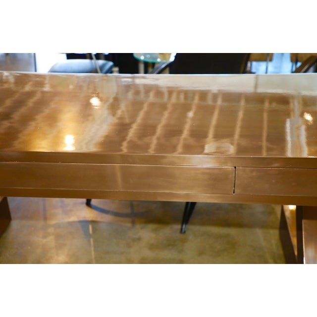 Zee Desk in Bronze by Bridges Over Time Originals For Sale In Palm Springs - Image 6 of 13