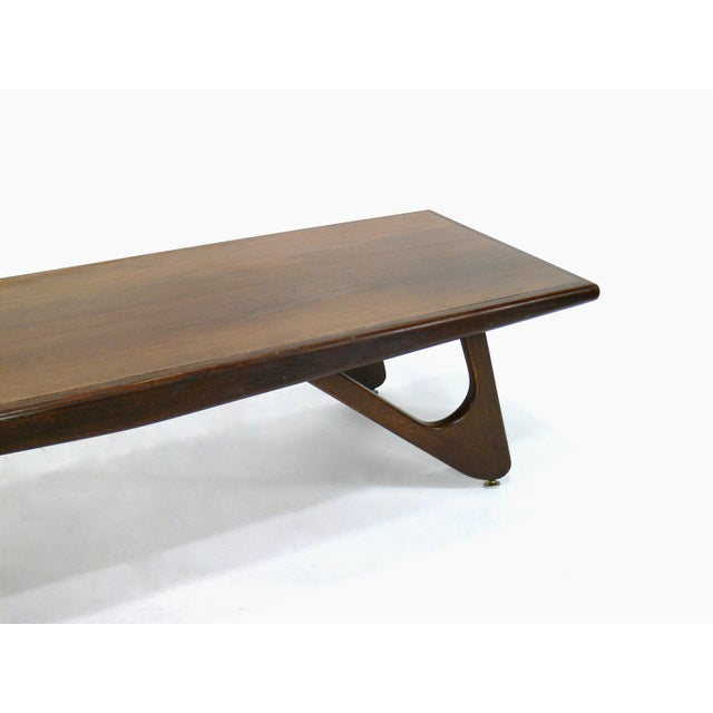 605209ac2705 Brown Mersman Mid-Century Modern Adrian Pearsall Attributed Walnut  Surfboard Coffee Table For Sale -