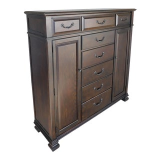 Bassett Oak Tall Chest / Dresser 63w X 63h For Sale