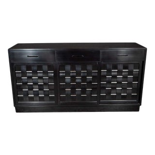 Mid-Century Modern Ebonized Walnut Sideboard by Edward Wormley for Dunbar For Sale