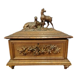 19th Century Antique Black Forest Box For Sale