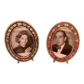 Italian Micro Mosaic Picture Frames - A Pair
