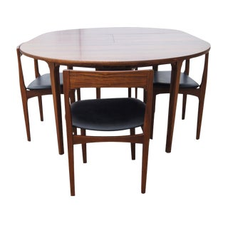 "66"" Vintage Expandable Butterfly Leaf Dining Table For Sale"