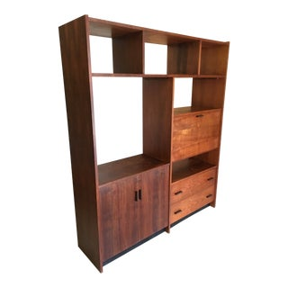 Mid-Century Walnut Shelving Unit For Sale
