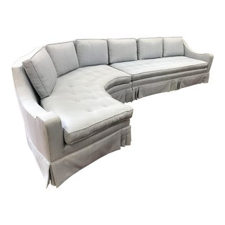 Harvey Prober Style Mid-Century Pale Gray Sectional Sofa