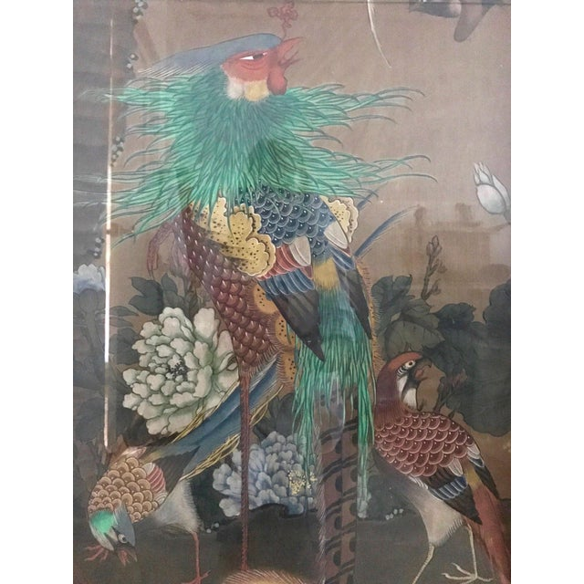 Antique Chinese Three Panel Folding Oriental Water Colour Screen / Room Divider For Sale - Image 4 of 7