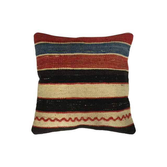 Striped Handmade Kilim Pillow Cover - Image 1 of 4