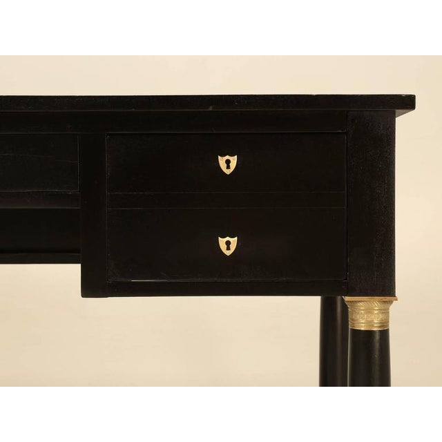 Gold French Empire Style Ebonized Desk For Sale - Image 8 of 11