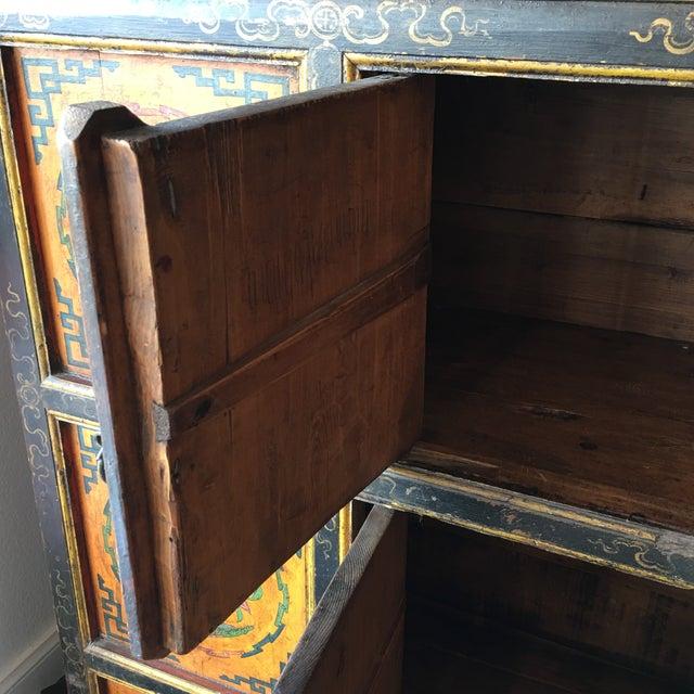 Tibetan Handpainted Cabinet - Image 6 of 11