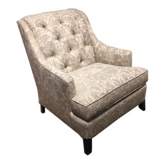 Kravet Transitional Upholstered Medley Chair For Sale