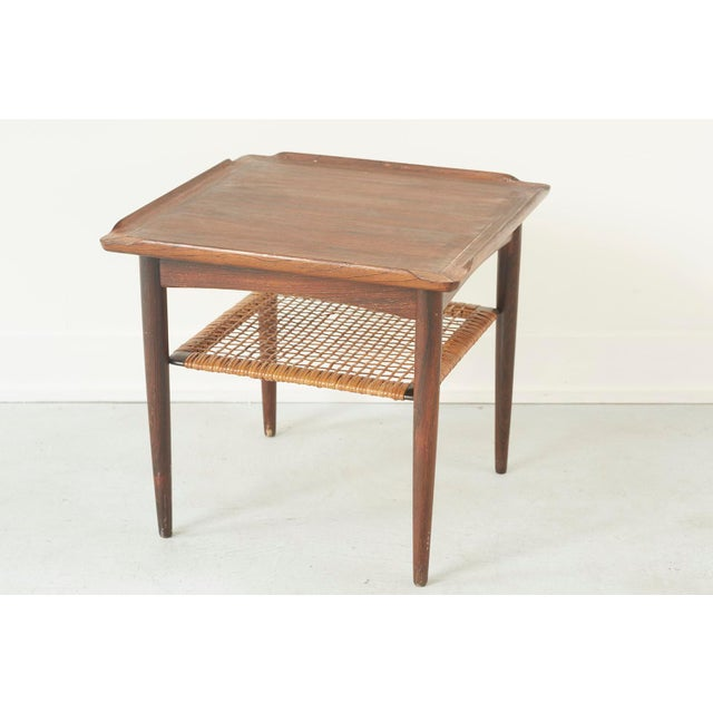 Rosewood and Cane Side Table by Poul Jensen for Selig - Image 6 of 9