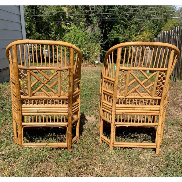 1970s Antique Chinese Bamboo Chairs - A Pair For Sale - Image 5 of 13