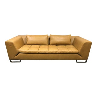 American Leather Modern Leather Sofa For Sale