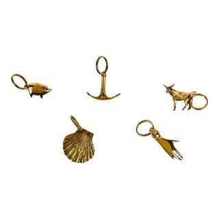 Carl Auböck Brass Figurine Keyrings -- Set of 5 For Sale
