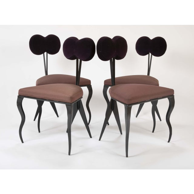 Mid 20th Century Upholstered Steel Frame Chairs by Joaquin Gasgonia Palencia - Set of 4 For Sale - Image 5 of 13