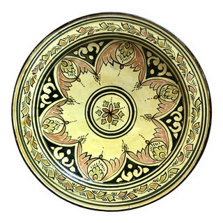 Ceramic Hand Painted Decorative Plate From Maroc For Sale