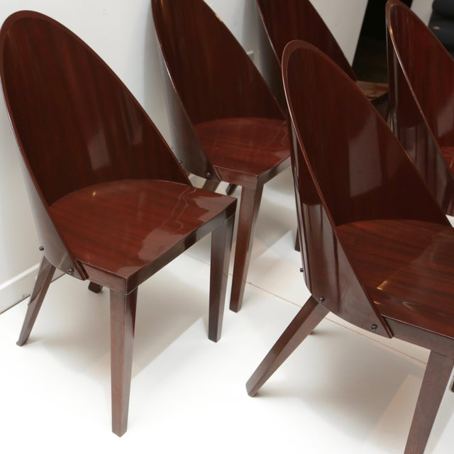 Philippe Starck Philippe Starck Royalton Mahogany Dining Chairs - Set of 6 For Sale - Image 4 of 8