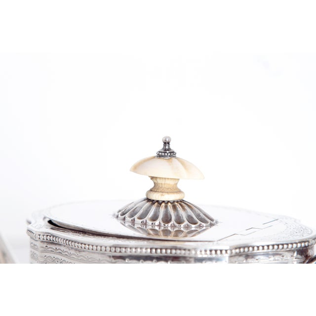 19th Century English Sterling Silver 4 Piece Coffee and Tea Service For Sale - Image 9 of 12