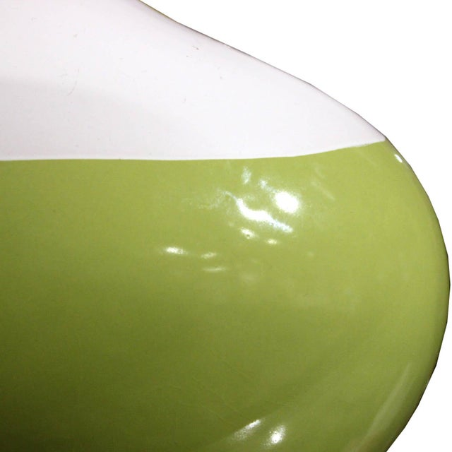 Contemporary Contemporary Green & White Ceramic Vase For Sale - Image 3 of 4