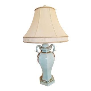 "Henredon ""The Bradburn Gallery"" Baby Blue Ceramic Table Lamp"