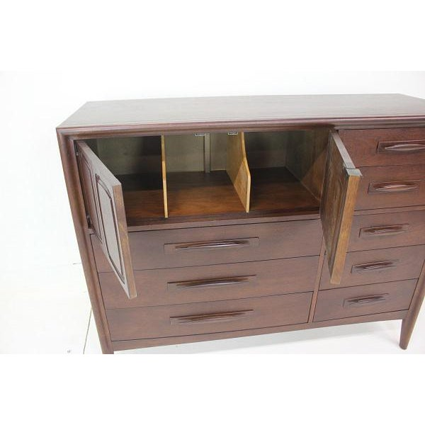 1960s Broyhill Emphasis Magna High Dresser For Sale - Image 5 of 8
