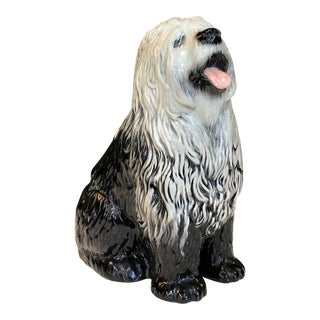 Mid Century Ceramic Old English Sheepdog For Sale