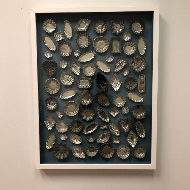 Framed Collection of Tart Molds For Sale - Image 10 of 11