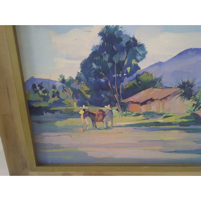 """""""Mexican Farm"""" by Hans Paro For Sale - Image 4 of 7"""