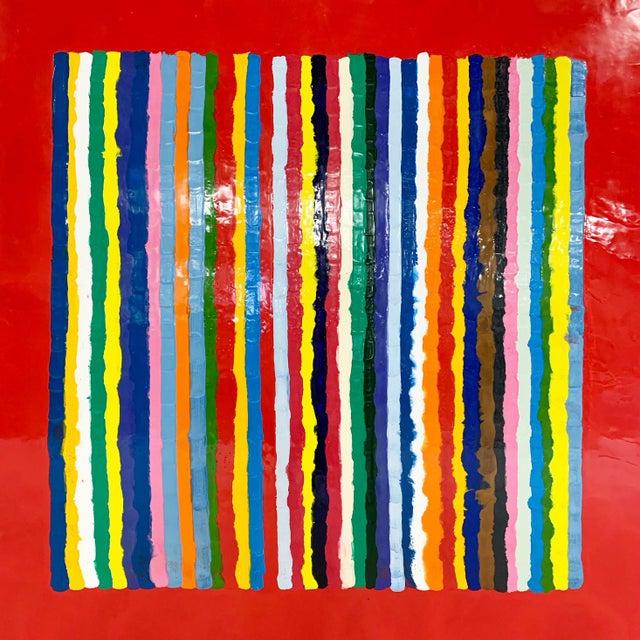 2010s John O'Hara. Sardinia, Red. Encaustic Painting For Sale - Image 5 of 7