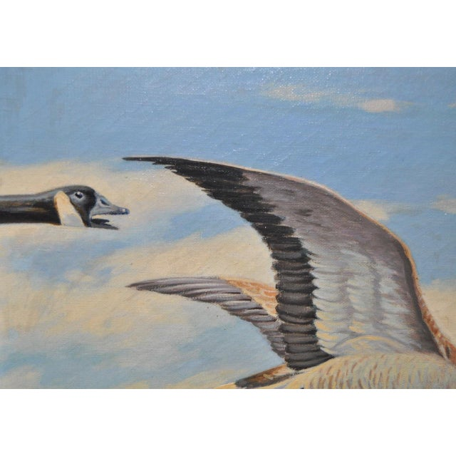 """""""Geese in Flight"""" Original Oil Painting For Sale - Image 4 of 8"""