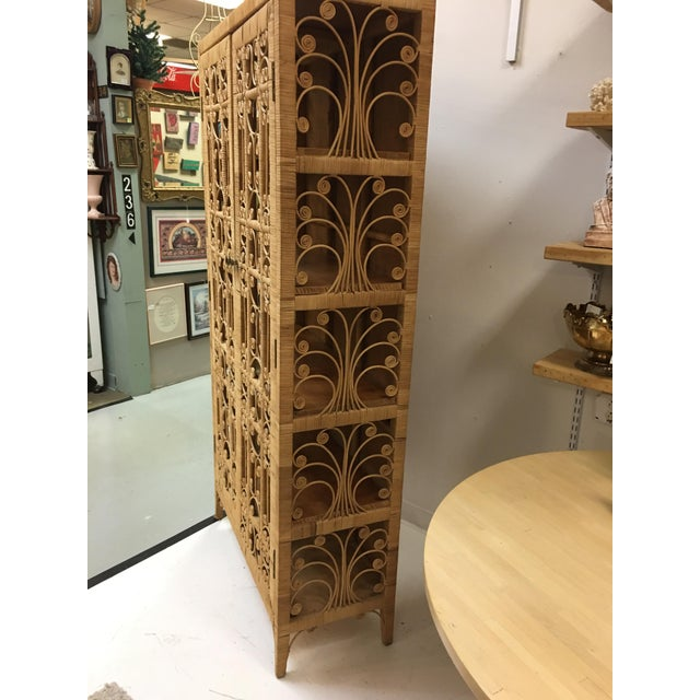Bohemian Rattan Storage Cabinet For Sale - Image 11 of 11