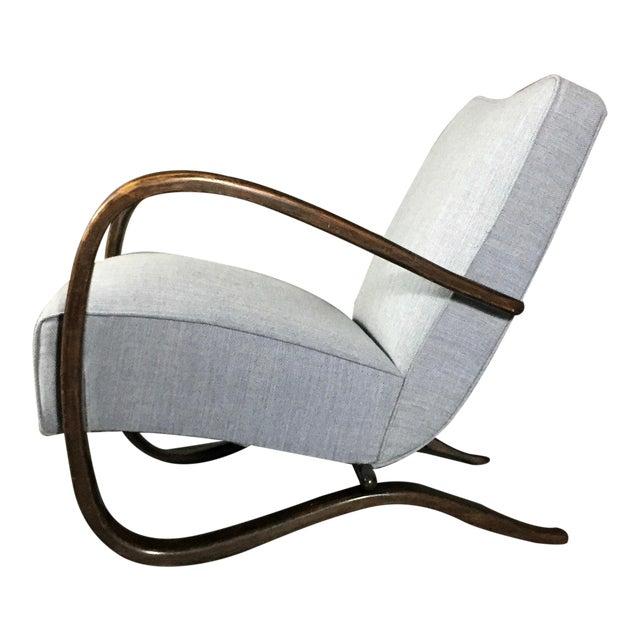 Jindřich Halabala Lounge Chair, Czech Republic, 1930s For Sale