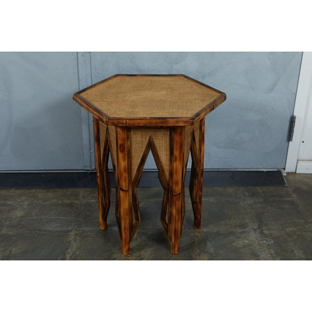 Not Yet Made - Made To Order Jw Custom Line Tiger Bamboo Hexagonal Side Table For Sale - Image 5 of 6