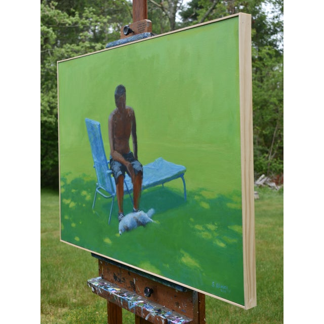 """Stephen Remick """"Resting in the Shade"""", Stephen Remick Contemporary Painting For Sale - Image 4 of 13"""
