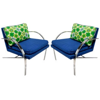 """Pair of """"Arco"""" Chairs in the Style of Paul Tuttle For Sale"""