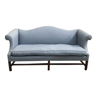 Chippendale Style Baby Blue Camel Back Couch