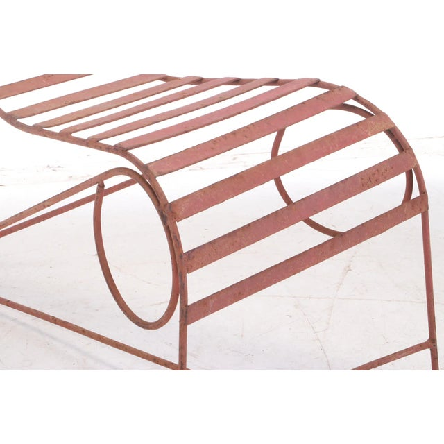 Mid 20th Century Andre Dubreuil Style Sculptural Garden Chaise For Sale - Image 5 of 6