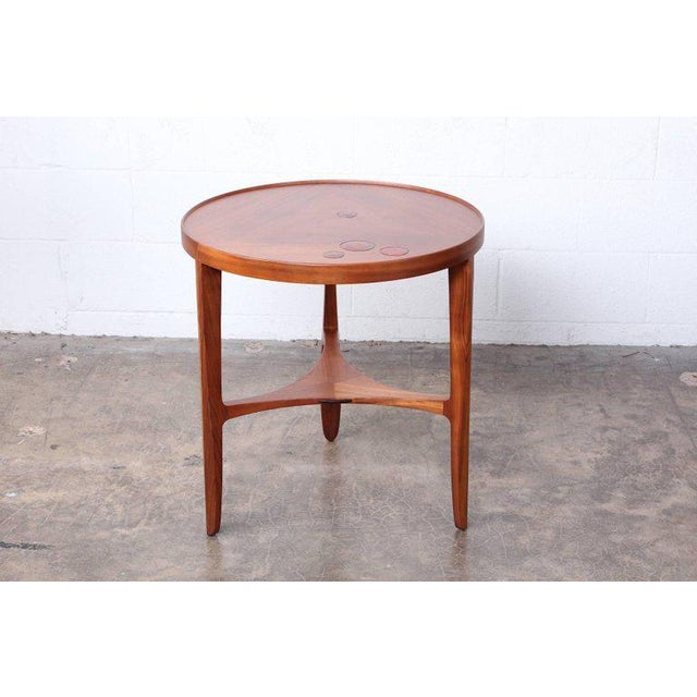 Dunbar Janus Table by Edward Wormley With Natzler Tiles For Sale - Image 12 of 12